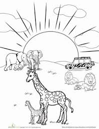Animals Closely Safari Coloring Page 65 Best Images About Theme On