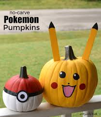 Easy Pokemon Pumpkin Carving Patterns by No Carve Pokemon Pumpkins The Resourceful Mama