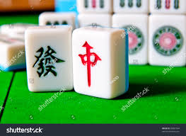 mahjong tiles popular china stock photo 83081644