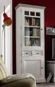 vitrine links kiefer shabby chic vollholz schrank weiß antik recycled