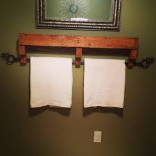 Towel Rack Made From Old Pallets