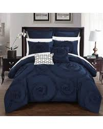 Navy Blue forter Set King Incredible Deal Chic Home 7 Piece
