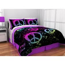 Latitude Peace Paint Reversible Bed in a Bag Bedding Set Walmart