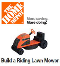 FREE Build a Riding Lawn Mower Workshop For Kids at Home Depot on