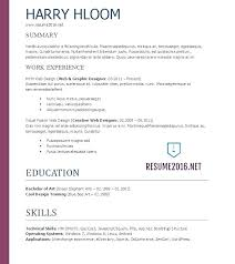 Free Windows Resume Templates Download For 7