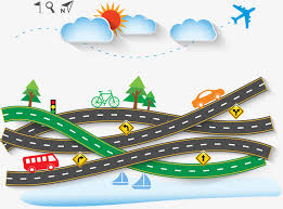 Creative Road Travel Clip Art Vector Free PNG And
