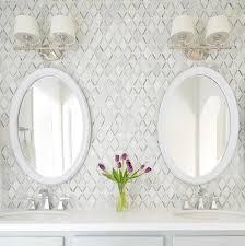 carrara white caribbean green marble mosaic tile