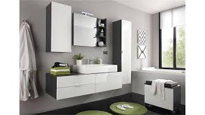 badezimmer set weiß hochglanz grau mit waschbecken