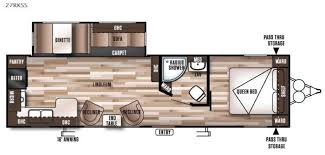 Wildwood Fifth Wheel Floor Plans Colors New 2016 Forest River Rv Wildwood 27rkss Travel Trailer At Byerly