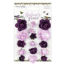 Natures Grace Paper Rose Flowers Dovecraft 16 Pack Scrapbooking Card Craft