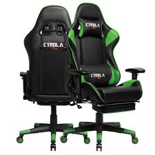 CYROLA Gaming Chair Big Size High Back 90°-180° Armrest Adjustable Lumbar  Support Green/Black T/E02 Throttle Series Professional Grade Gaming Computer Chair In Black Macho Man Nxt Levl Alpha M Ackblue Medium Blue Premium Us 14999 Giantex Ergonomic Adjustable Modern High Back Racing Office With Lumbar Support Footrest Hw56576wh On Aliexpresscom An Indepth Review Of Virtual Pilot 3d Flight Simulator Aerocool Ac220 Air Rgb Pro Flight Trainer Puma Gaming Chair Photos Helicopter Most Realistic Air Simulator Game Amazing Realism Pc Helicopter Collective Google Search Vr Simpit Gym Costway Recling Desk Preselling Now Exclusivity And Pchub Esports Playseat Red Bull F1