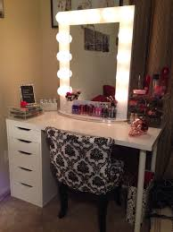 White Makeup Desk With Lights by Outstanding Rectangle Black Makeup Mirror With Lights Metal Mirror