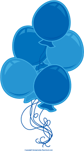 Birthday clipart free blue