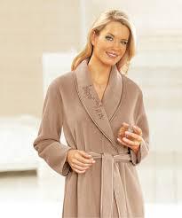 robe de chambre en molleton polaire 130 cm vison femme damart