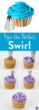 How To Pipe A Cupcake Swirl