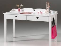 bureau 130 cm bureau 2 tiroirs en bois laqué blanc longueur 130 cm amori