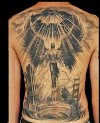 There Are Two Kinds Of Angel Tattoos Like Good Or Peace And Death Take A Look This New Tattoo Design On Males Back