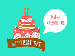 Birthday card with cake illustration Download Image 3333x2500px