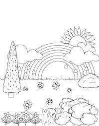 Rainbow Coloring Page Color Printable Pages Free