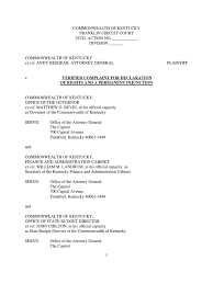 Ky Personnel Cabinet Secretary by Andybeshear Complaint Federal Government Of The United States