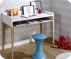 bureau enfant en bois enfant riga blanc et bois