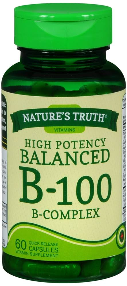 Nature's Truth High Potency Balanced B-100 B Complex Supplement - 60ct