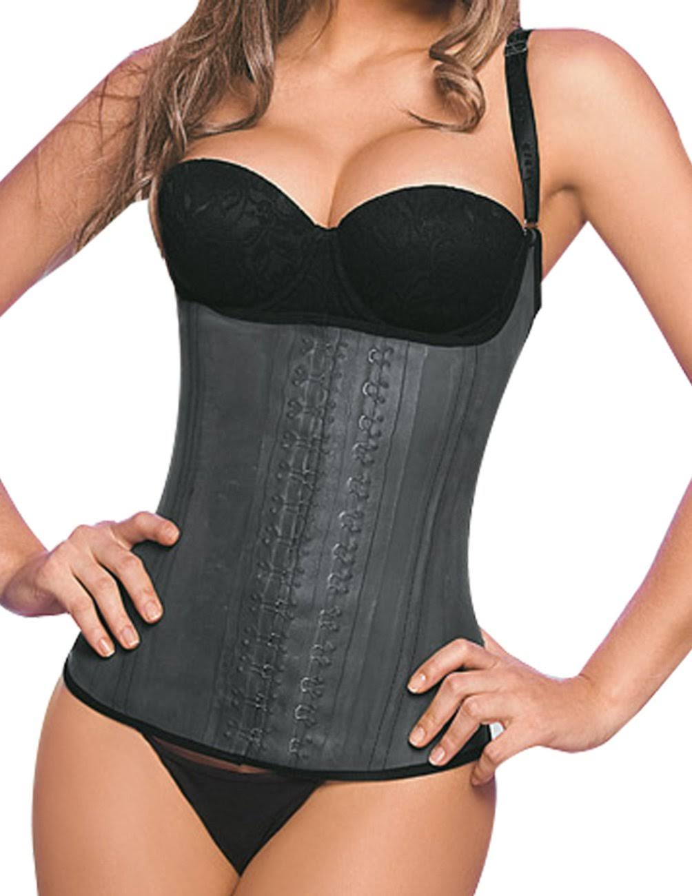 Ann Chery Womens Latex Girdle Body Shaper - Black, Medium