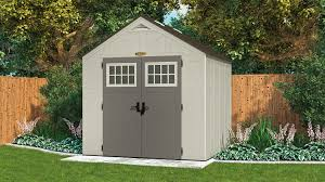 Suncast Plastic Garage Storage Cabinets by 378 Cu Ft Tremont 8 X 7 Storage Shed Suncast Corporation
