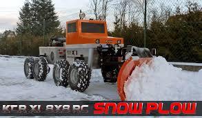 100 Rc Truck Snow Plow RC Scale 12 KTRX1 8X8 ROBOPLOW Snow Plow