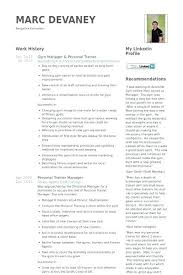 Fitness Instructor Resume Sample Personal Trainer Company Anytime Example