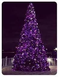 Black Christmas Tree With Purple Lights Best 25