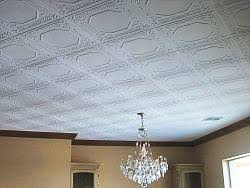 styrofoam glue up tiles for ceilings much cheaper than real tin