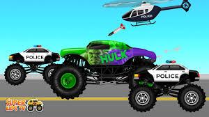 100 Hulk Monster Truck S Crashes Car Wash For Children