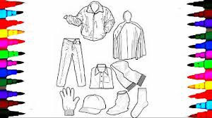 Coloring Pages Boys Clothes Jackets And Hat Book Videos For Children Learning Colors