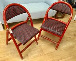 2 VINTAGE WOODEN FRENCH PATIO CHAIRS, FOLDABLE, SHABBY CHIC, IDEAL UPCYCLE,  FRENCH BISTRO DINING | In Whitchurch, Cardiff | Gumtree Flash Fniture Kids White Resin Folding Chair With Vinyl How To Save Yourself Money Diy Patio Repair Aqua Lawn The Best Camping Chairs Travel Leisure Pair Of By Telescope Company Top 14 In 2019 Closeup Check Lavish Home Black Cushion Seat Foldable Set 2 7 Sturdy For Fat People Up To And Beyond 500 Pounds Reweb A 10 Easy Wooden Benches Family Hdyman Wrought Iron Ideas Outdoor Stackable
