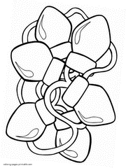 Christmas Lights Coloring Pages For Kid