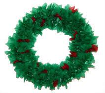 Tissue Paper Wreath Version 2