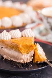 Pumpkin Layer Cheesecake by No Bake Double Layer Nutella Pumpkin Cheesecake