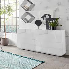 sideboard wohnzimmer 4 türen 2 fächer mit regalen modern weiß ping side l