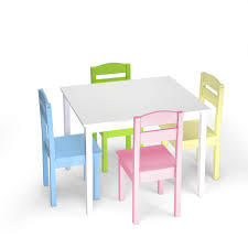 Costzon Kids Wooden Table And Chairs, 5 Pieces Set Includes 4 Chairs And 1  Activity Table, Picnic Table With Chairs (White & Pastel) High Quality Cheap White Wooden Kids Table And Chair Set For Sale Buy Setkids Airchildren Product On And Chairs Orangewhite Interesting Have To Have It Lipper Small Pink Costway 5 Piece Wood Activity Toddler Playroom Fniture Colorful Best Infant Of Toddler Details About Labe Fox Printed For 15 Childrens Products Table Ding Room Cute Kitchen Your Toy Wooden Chairs Kids Fniture Room