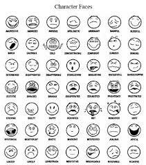 Emotions Feeling Faces Coloring Pages