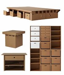 DIY cardboard furniture design original storage ideas carboard