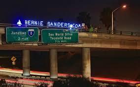 San Diego s Bernie Sanders Overpass Light Brigade Album on Imgur