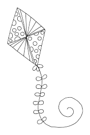 Kite Coloring Pages For Kids Printable