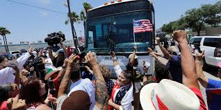 Protesters Block Bus Carrying Immigrants From Border Patrol Facility ... Rollover Crash In Harlingen Under Invesgation Border Truck Sales Enero 2016 Youtube Myth And Reason On The Mexican Travel Smithsonian Used Semi Trucks In Mcallen Tx Ltt Migrant Gastrak Your Stop For Gas Convience Why Illegal Border Crossings Have Increased Despite Trump Policies Int