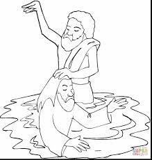 Awesome John The Baptist Coloring Pages Printable With Baptism New Jesus Being Baptized Page