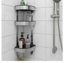 details zu ikea brogrund shower rack stainless steel 3 tier bathroom corner wall shelf