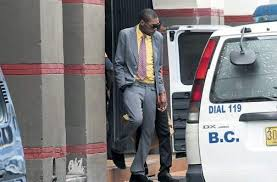 Incarcerated Deejay Vybz Kartel Leaving The Home Circuit Court In Downtown Kingston Yesterday PHOTO BRYAN CUMMINGS