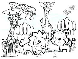 Zoo Animals To Color Coloring Pages Together With Easy