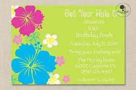 Hawaiian Themed Birthday Party Invitation Home Party Idea Pool